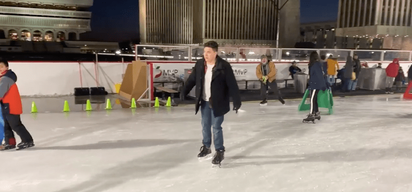Albany Bucket List: Sam Goes Ice Skating at Empire State Plaza