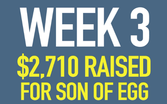 Big Tip Energy Week 3: $2,710 Raised For Son of Egg