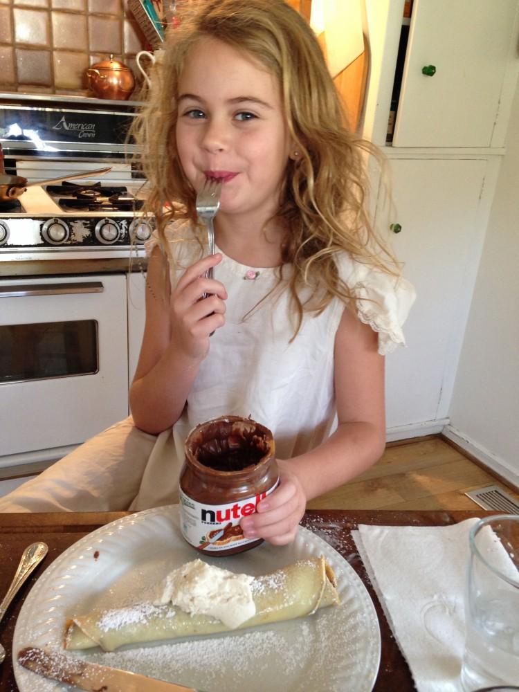 Crepes -Sadie and Nutella