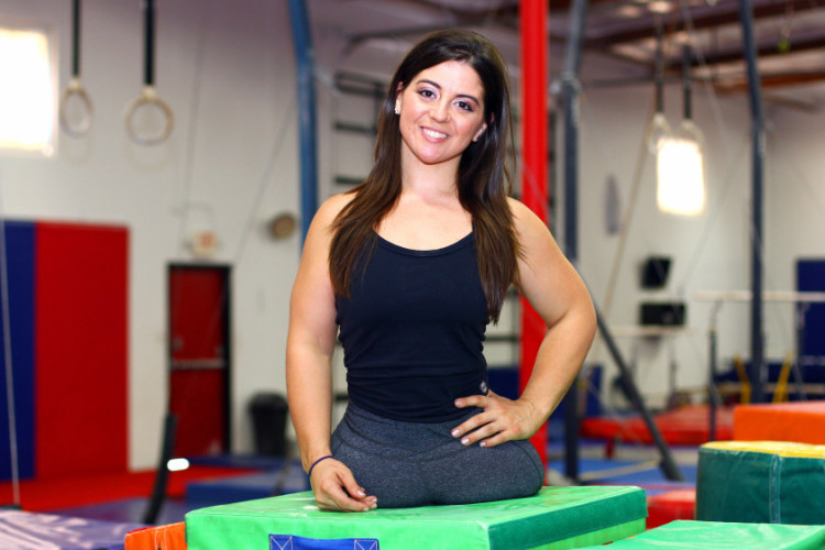 ***EXCLUSIVE***VIDEO AVAILABLE*** LOS ANGELES, CA - SEPTEMBER 25: Jen Bricker at her gymnastics gym on September 25, 2014 in Los Angeles, California. Jen Brickerís childhood dreams came true when she discovered her idol was in fact her long-lost sister. Jen, 27, was adopted at birth after being born with no legs due to a genetic birth defect. Despite her disability, growing up Jen was drawn to gymnastics and idolised American Olympic gymnast Dominique Moceanu. And after competing in - and winning - gymnastic competitions at State level, Jen learned a shocking secret - that Dominique was actually her biological sister. PHOTOGRAPH BY Ruaridh Connellan / Barcroft USA UK Office, London. T +44 845 370 2233 W www.barcroftmedia.com USA Office, New York City. T +1 212 796 2458 W www.barcroftusa.com Indian Office, Delhi. T +91 11 4053 2429 W www.barcroftindia.com