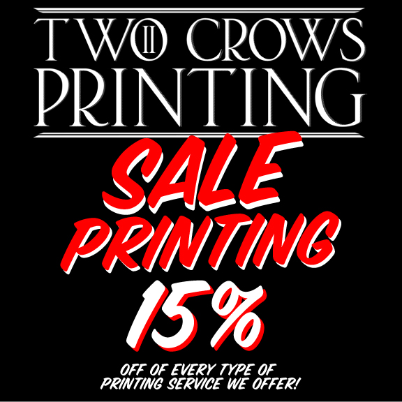 End of the Year sale on Printing!