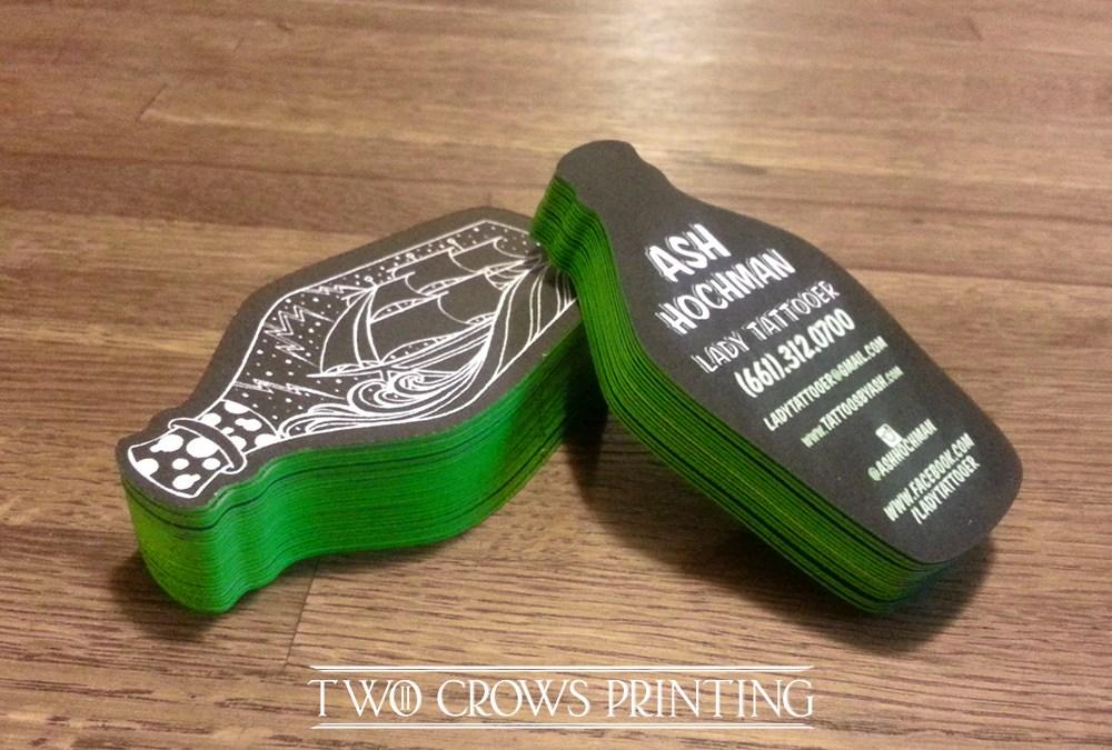 Ash Hochman bottle shaped business cards,