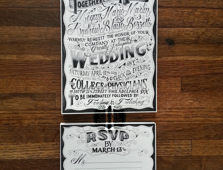 Wedding Invites Printed on 140lb Fabriano