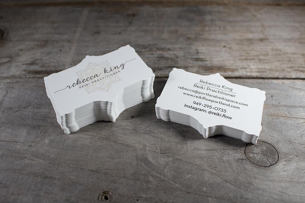 Custom Shape Business Card Printing - Two Crows Printing