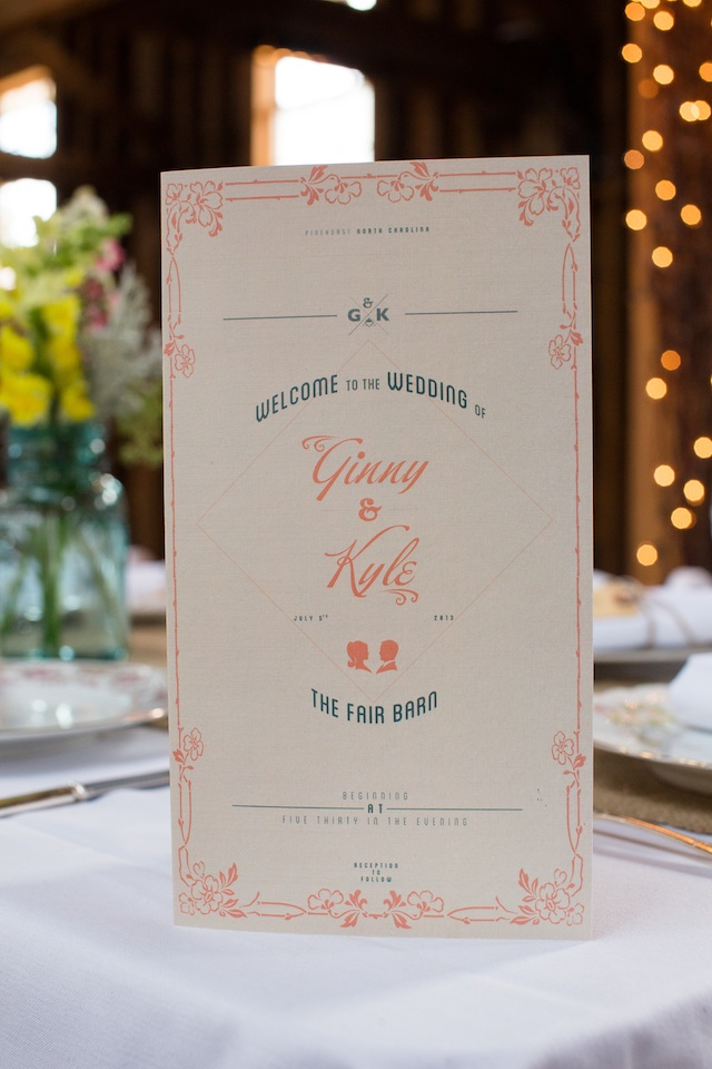 Ginny wedding Wedding Program | Two Delighted