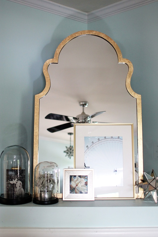 gold leaf mirror final Two Delighted