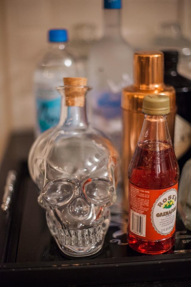 skeleton decanter