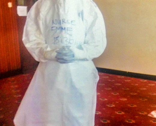 Nurse in Ebola Personal Protective Equipment