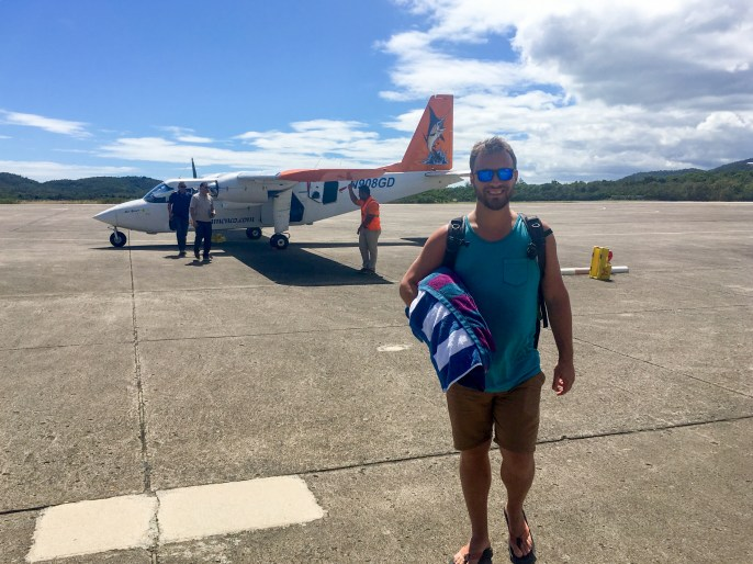 Taking a small passenger plane back to Puerto Rico from the island of Culebra