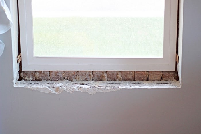 Removing Tile from Window Sill