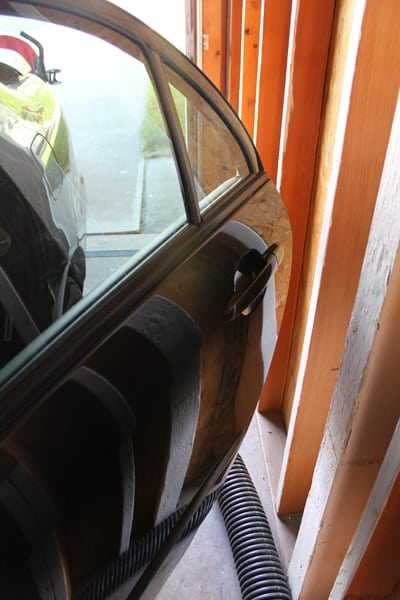 Car door guard for garage