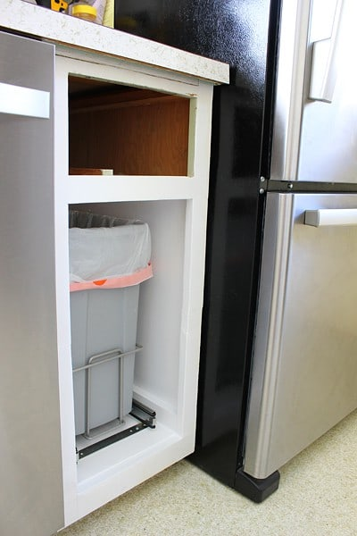 Install a Cabinet Trash can