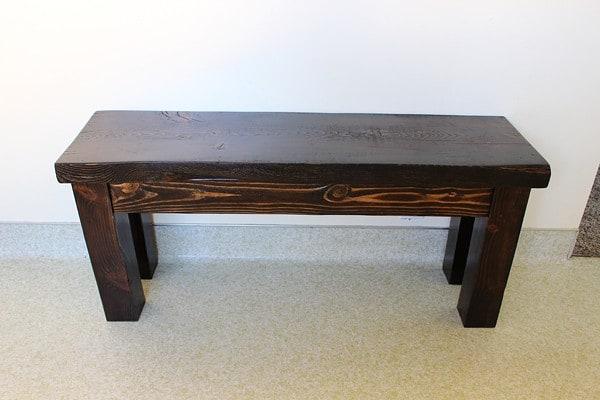 diy wood bench twofeetfirst