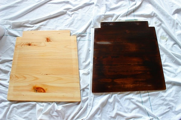 Dark Walnut Stain for table