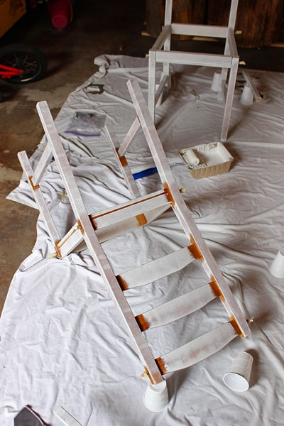 Painting kitchen chairs