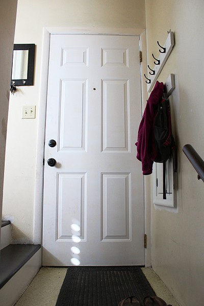 Adding coat hooks to back entry