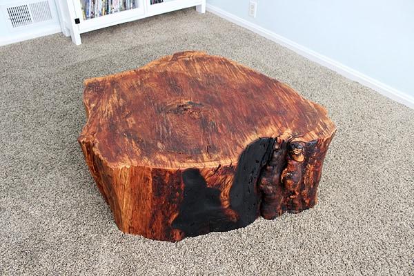 Diy tree stump table for Diy wood stump table