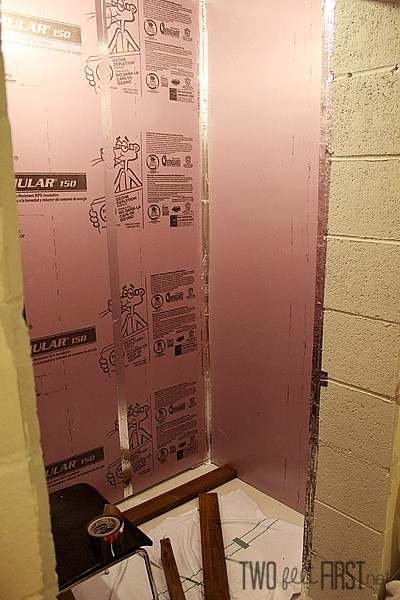insulate basement walls to save floor space