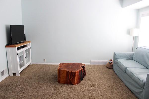 DIY coffee tree Stump Table