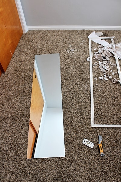 DIY full length mirror
