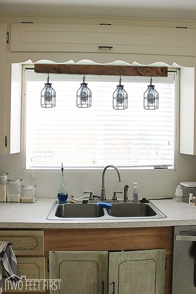 Gooseneck Lights Over Kitchen Sink