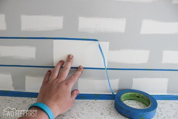 tape lines for subway tile