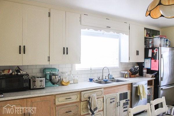 adding trim around kitchen window twofeetfirst