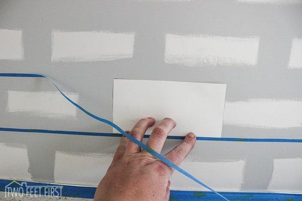 template for painting backsplash