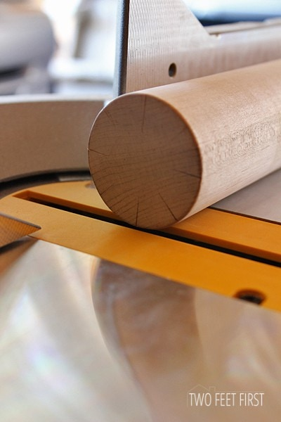 Placing-marked-dowel-on-saw
