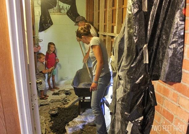 recementing-basement-floor