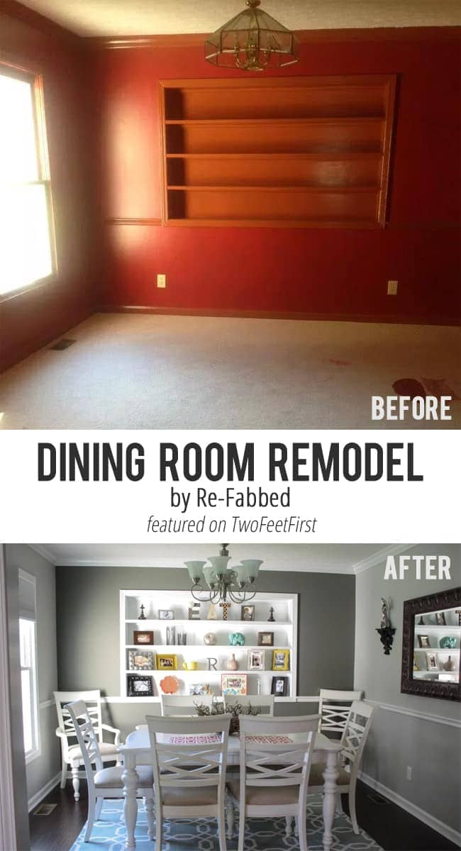 Remodel Love Dining Room By Re Fabbed Twofeetfirst