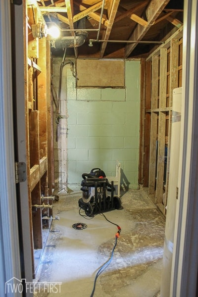 demoing bathroom