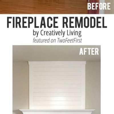 Remodel Love – Fireplace Makeover by Creatively Living