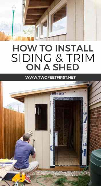 install siding and trim to shed