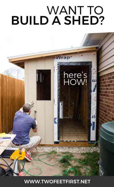 Do you need another place to store your yard tools? It's time for a shed and here is how to install siding and trim on a shed!