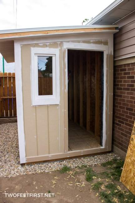 How To Install Siding Amp Trim On A Shed Twofeetfirst