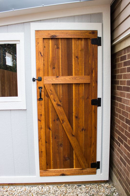 How to build a cedar shed door & to build a cedar shed door