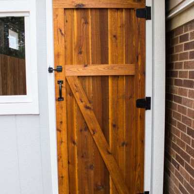 Build a Simple Cedar Door for a Shed