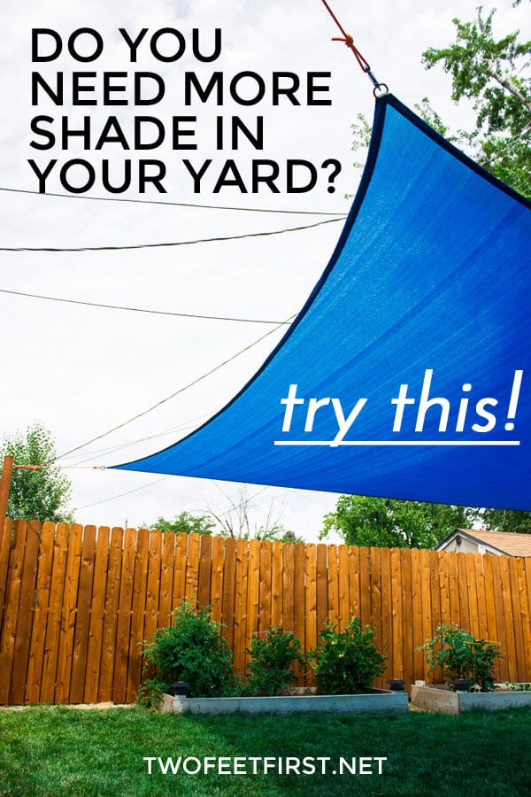 Do you need more shade in your yard? Try adding a sail shade!