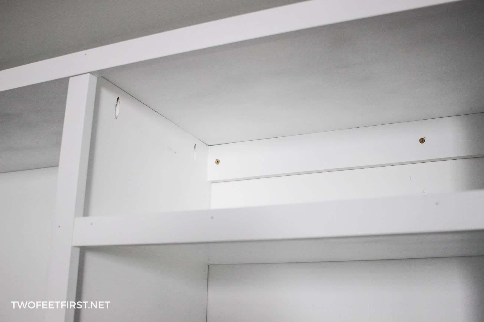attach closet organizer to wall