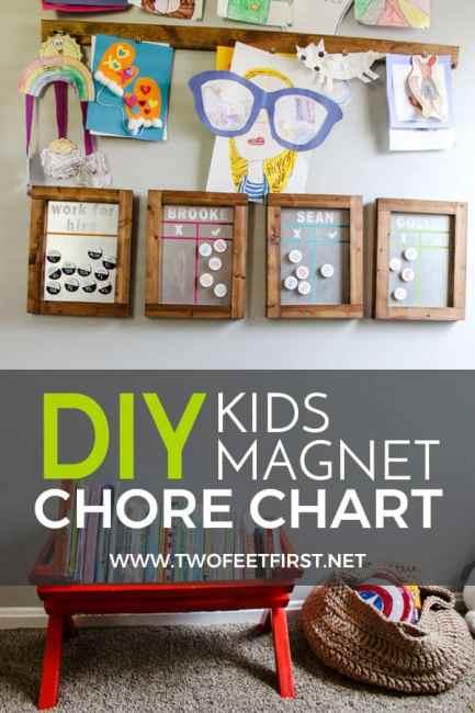 diy kids magnet chore chart