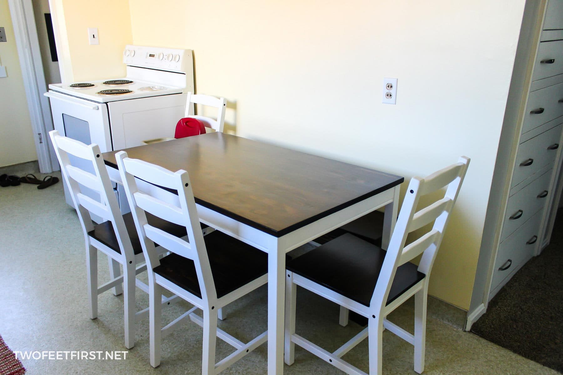 Ikea hack farmhouse table updated ikea table to farmhouse watchthetrailerfo