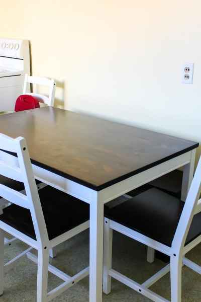 updated Ikea table to farmhouse