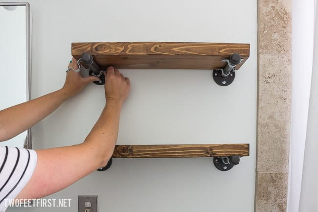 Build a floating industrial shelf
