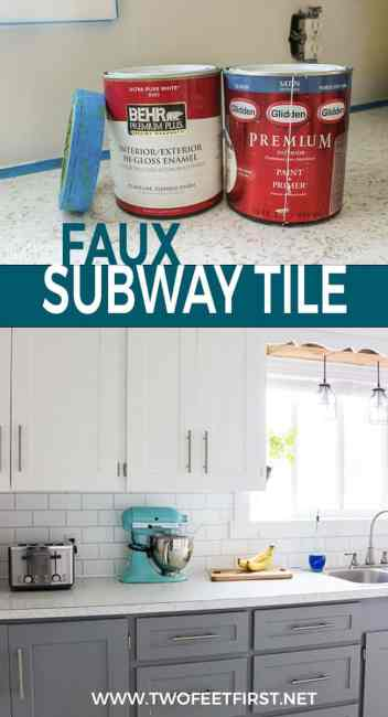 Do you want to update your kitchen? How about the backsplash? Here is a cheap way to do this by painting the backsplash to look like tile.
