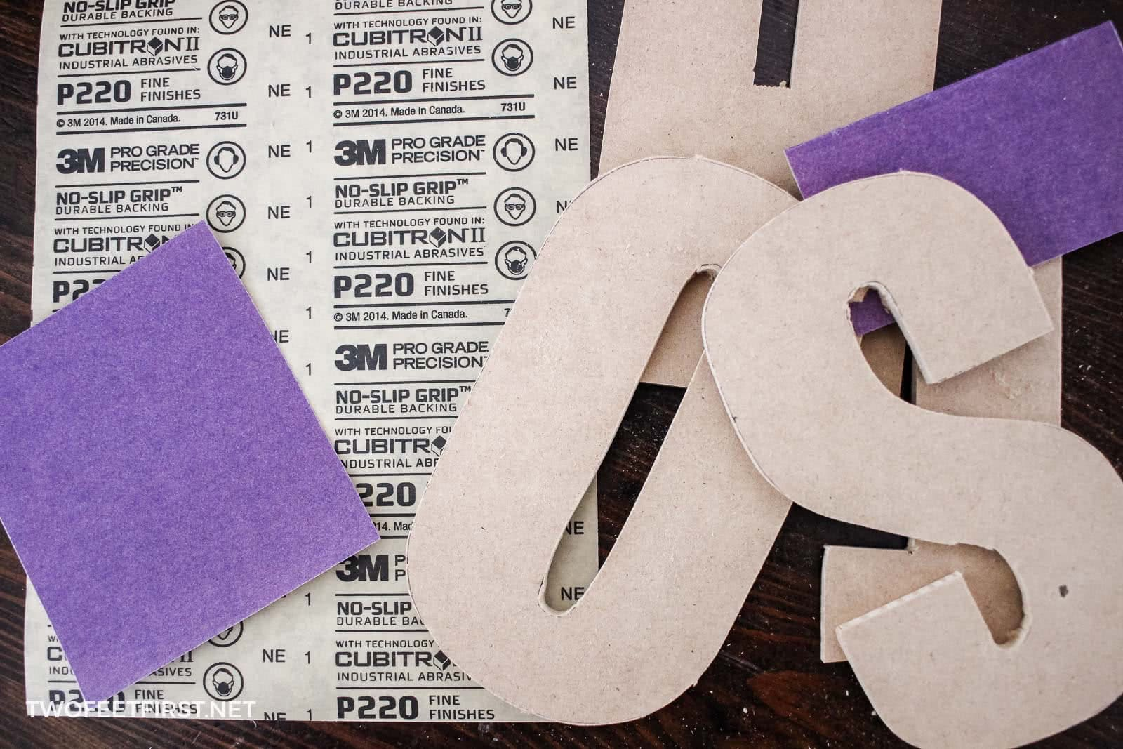 create wooden letters