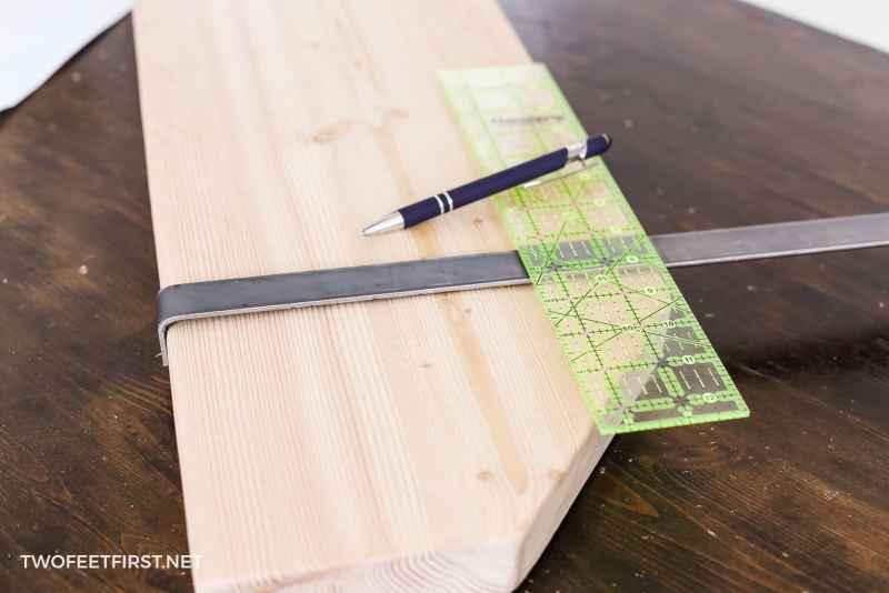 measuring distance for metal brackets