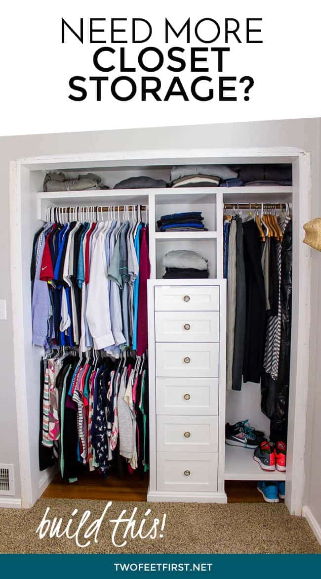 Need more closet storage? here is how to build a closet system