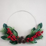 simple holiday hoop wreath tutorial