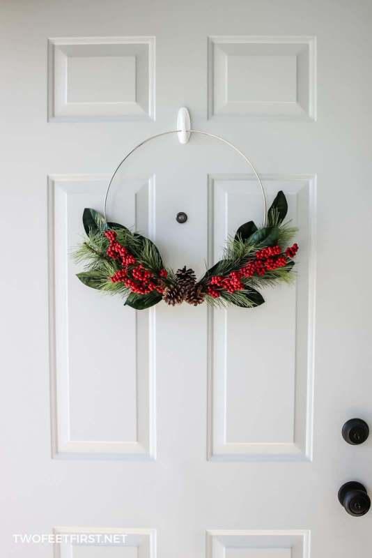 Christmas door decor wreath